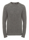 Men's sweater knitted gray