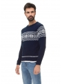Cardigan for men's knitted blue
