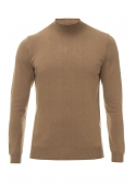 Sweater men's knitted brown
