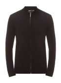 Cardigan male knitted black with zipper