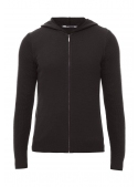 Sweter male knitted black with zipper
