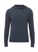 Sweter male knitted blue with zipper