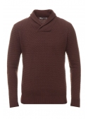 Sweater men's knitted burgundy