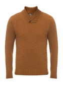 Sweater male knit brown
