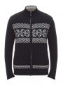 Sweater male knitted blue in snowflakes