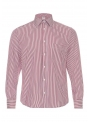 Shirt white-red in a classic cotton strip
