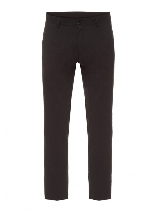 Men's black trousers are monochrome