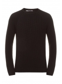 Sweater men's knitted black