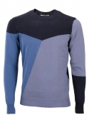 Sweater male knitted navy blue