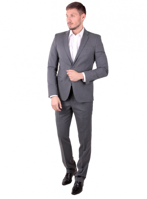 Suit men's gray wool