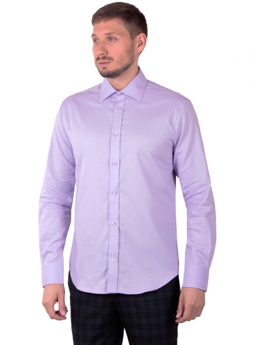 Lilac classic cotton shirt in a pattern