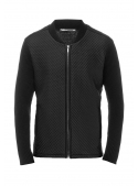 Cardigan male knitted black