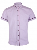 Lilac casual shirt with flax