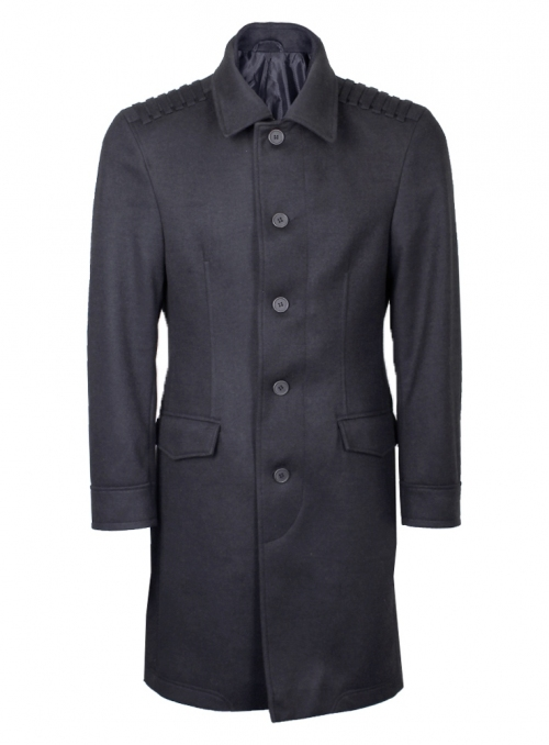 Men's coat is long