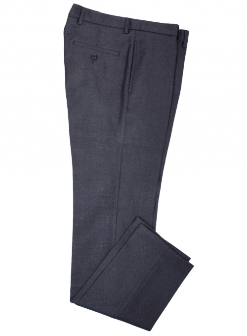 Woolen pants for men black