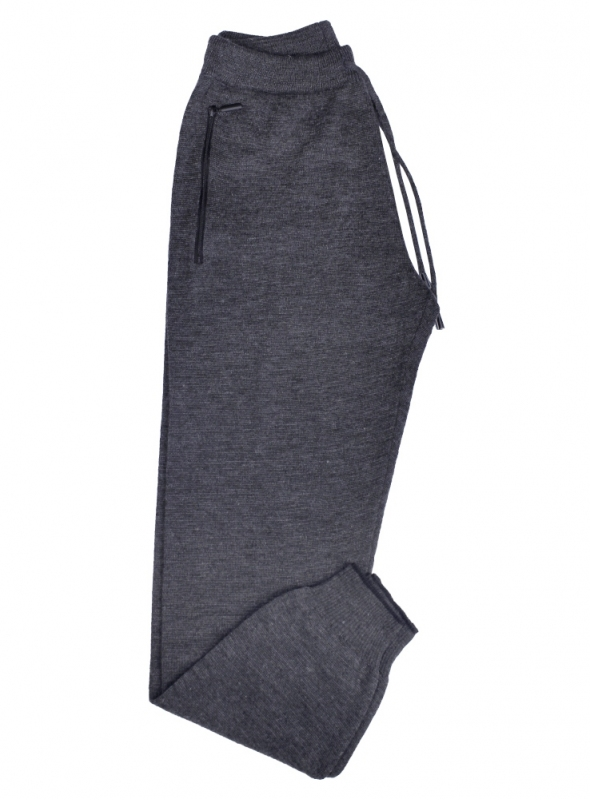 Men's trousers are woolen gray
