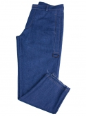 Men's pants are blue cotton