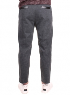 Men's trousers are gray cotton