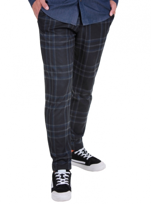 Men's blue trousers in a cage