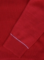 Golf men's knitted red with embroidery