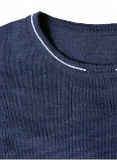 Jumper man's knitted blue