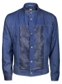 Denim jacket for men with inserts