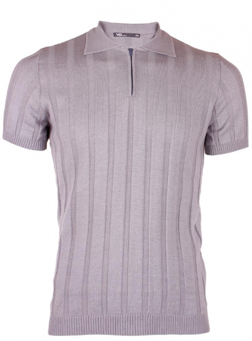 Men's grey polo