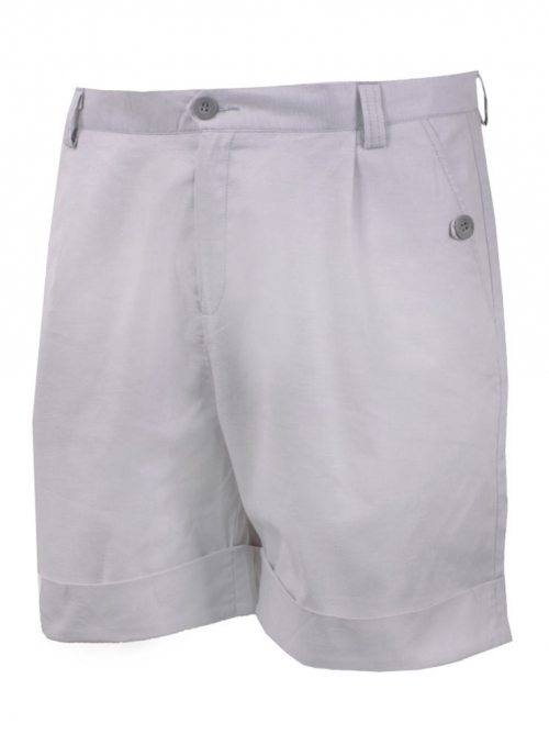 Light gray cotton shorts