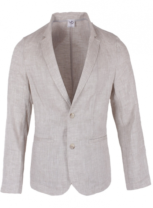 Men's gray linen jacket