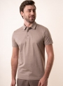 Men's beige polo