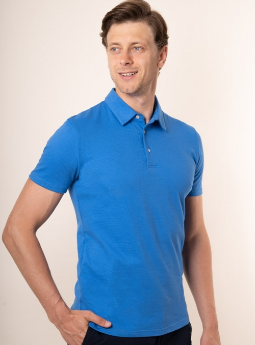 Men's royal blue polo