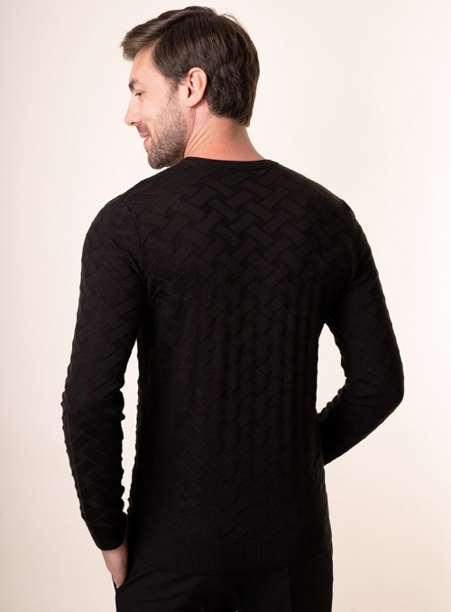 Men's black jumper