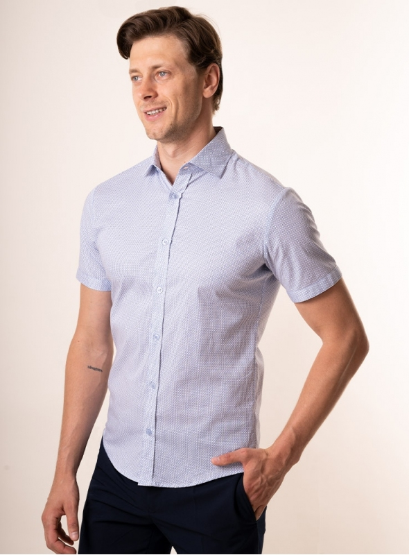 Men's light blue shirt