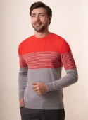 Men's red jumper