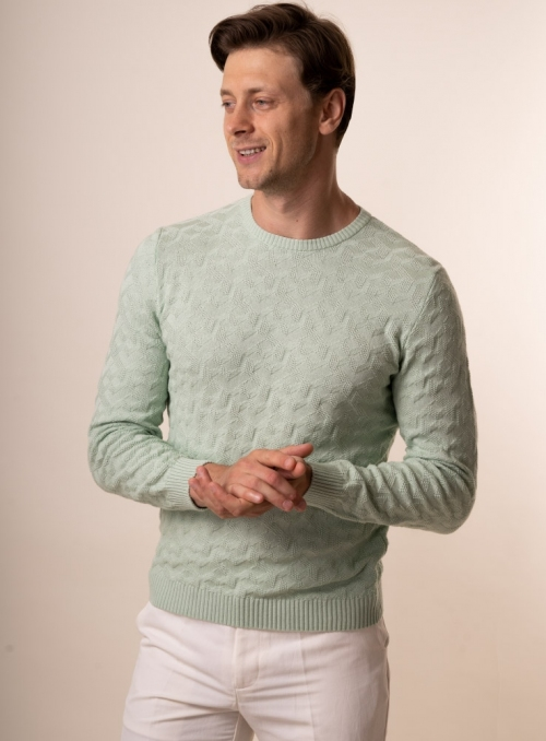 Men's mint jumper
