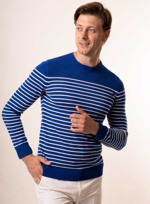 Men's royal-blue jumper