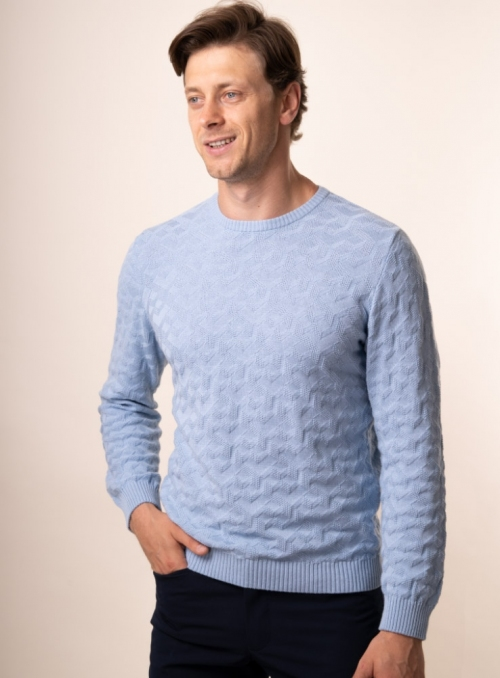 Men's light blue jumper
