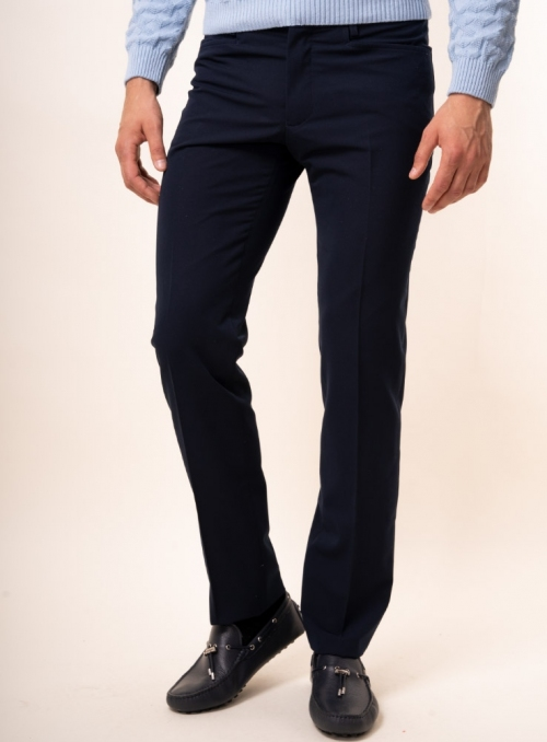 Men's navy trousers