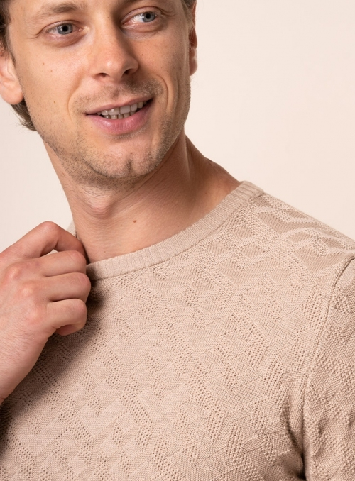 Men's beige jumper