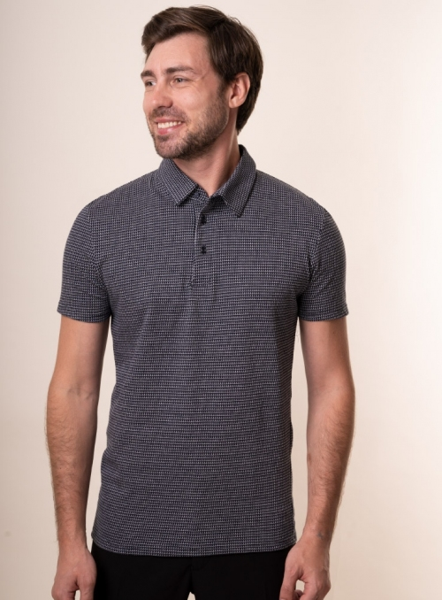 Men's navy polo