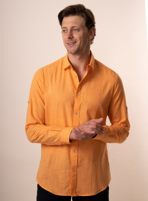 Men's orange shirt