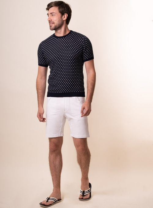 Men's white shorts