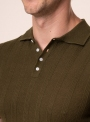 Men's khaki polo