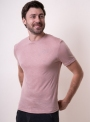 Men's salmon t-shirt