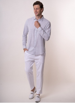 Men's light grey shirt