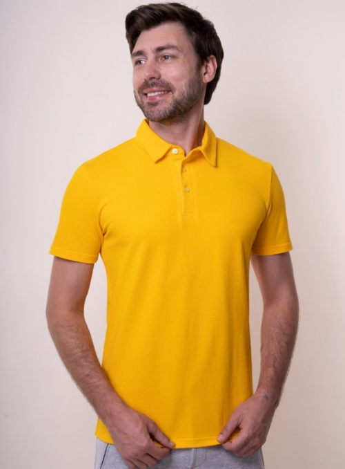 Men's yellow polo