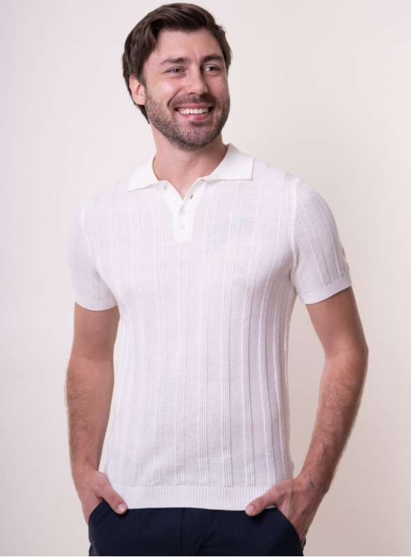Men's ivory t-shirt-polo