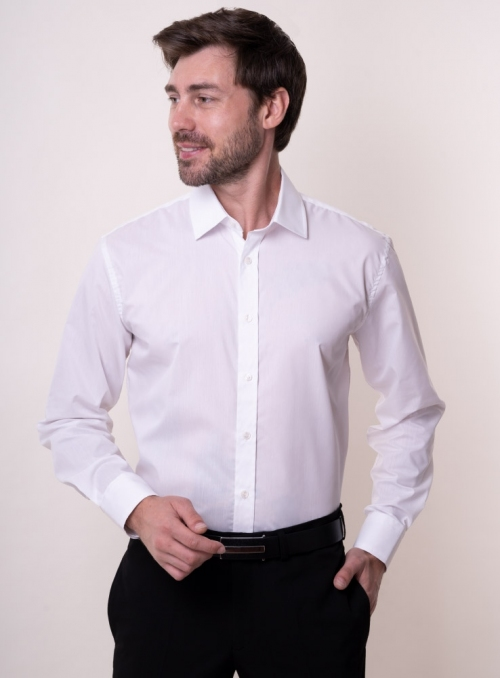 Classical cotton white shirt
