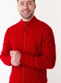 Cardigan male knitted red on lightning
