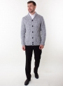 Men's knitted gray cardigan with buttons